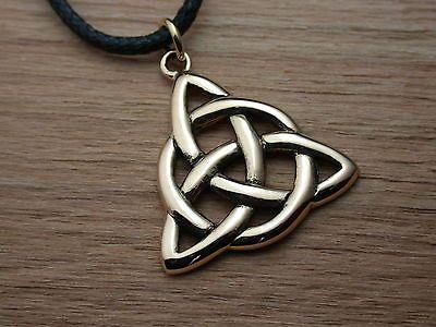 Details zu Keltischer Knoten / Dreieck aus Bronze, Ketten-Anhänger ...