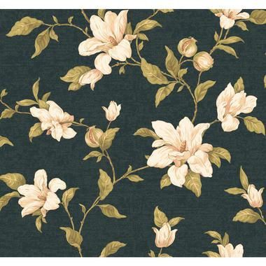 Regents Glen My Magnolia Wallpaper-PP5745-Black-White-Blush Pink