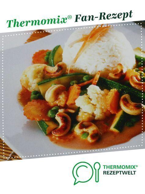 Thailändisches Gemüsecurry mit Reis #thaifoodrecipes