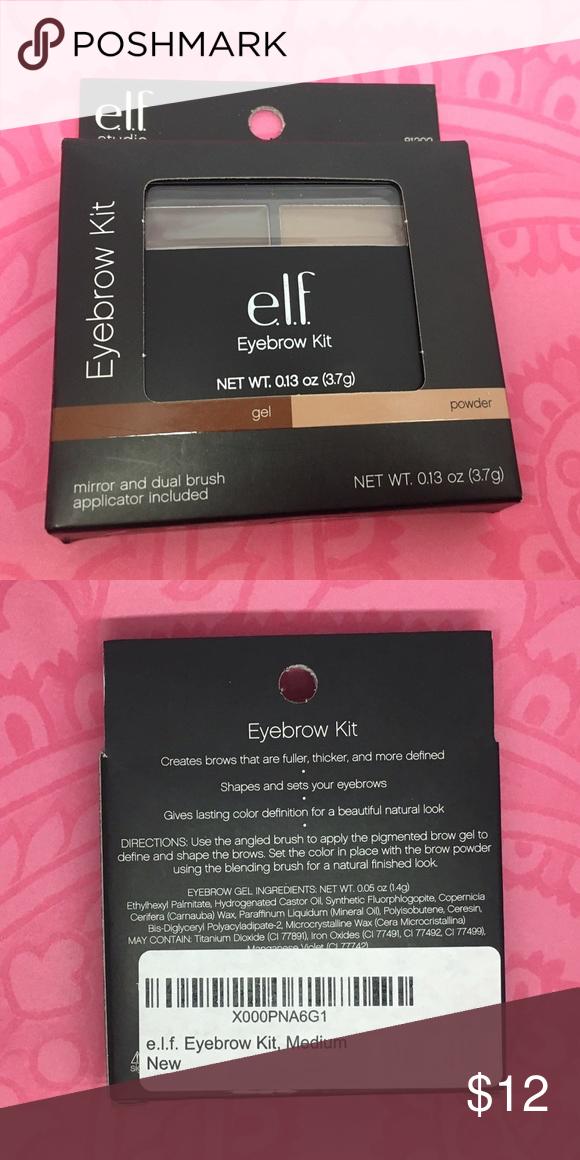 Elf Eyebrow Kit Medium Nib Nwt Pinterest Eyebrow Kits Makeup