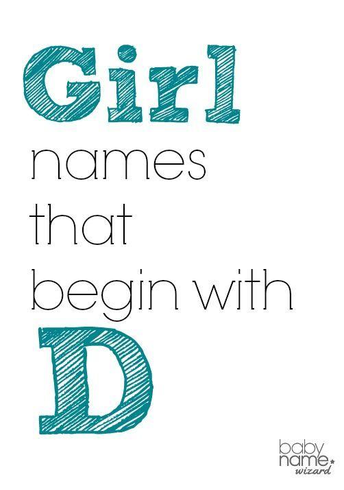 Girl Names That Begin With D Babynames