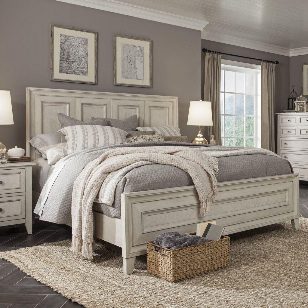 35 Popular White Master Bedroom Furniture Ideas Homyhomee Home Decor Bedroom Luxurious Bedrooms Farmhouse Bedroom Decor White master bedroom set