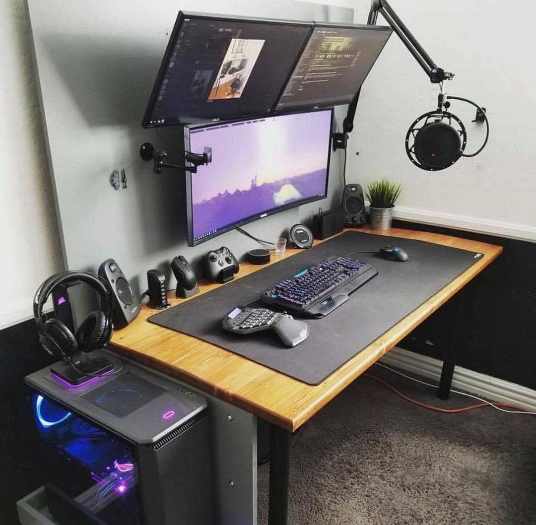 After all, the area will be used for playing games. Epic Diy Desk Ideas For Your Home Office | Game room ...