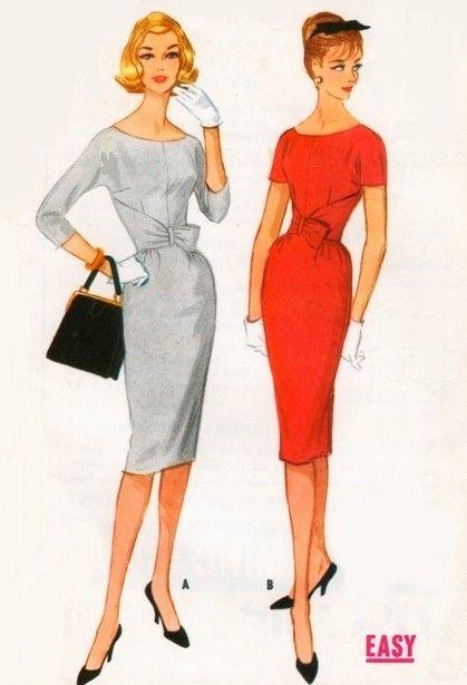 1960s bombshell sheath dress pattern mccalls 5543 stunning
