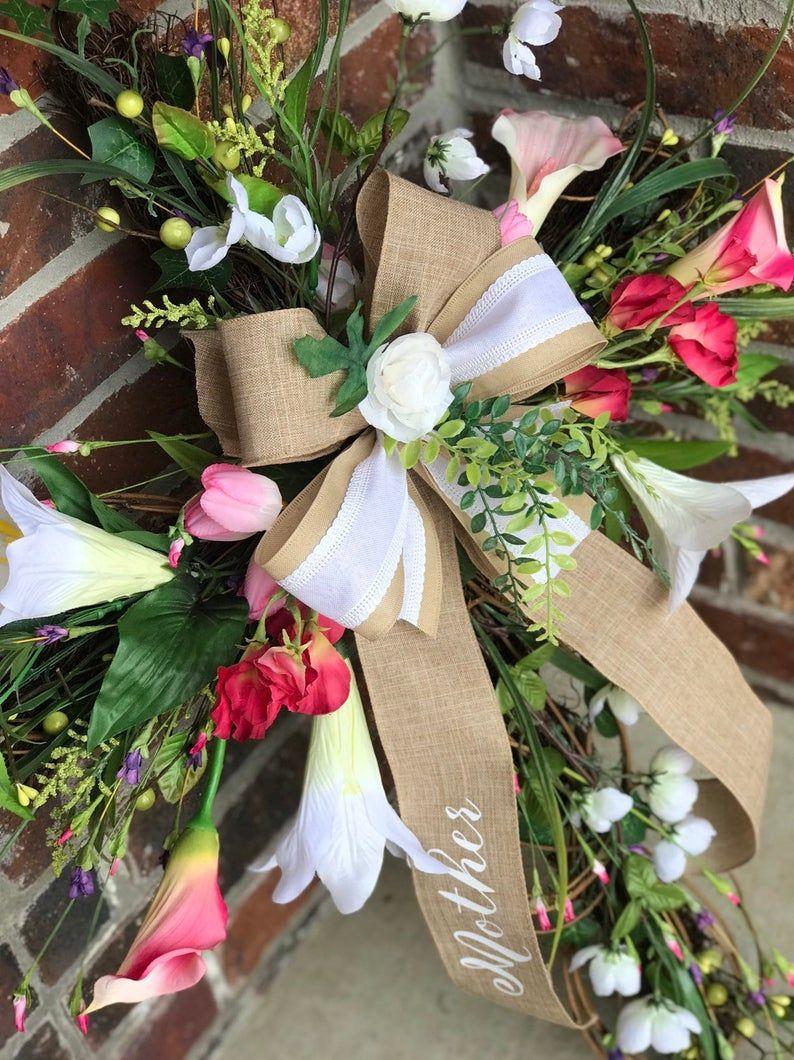 Grapevine cross wreath for memorial service funeral grave