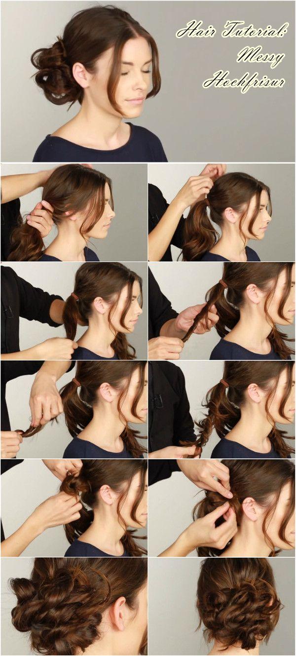Pin von Angela Kahl auf style my hairs  Frisur hochgesteckt, Haar