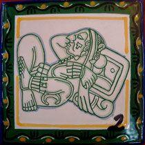 Azulejo Talavera de Puebla Modelo No.2 http://www.rusticosartesanales.com