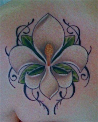 Magnolia Fleur De Lis Tattoo Fleur De Lis Tattoos Magnolia