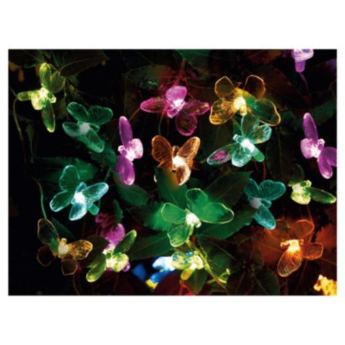 buy tesco butterfly solar line light 20pc from our solar. Black Bedroom Furniture Sets. Home Design Ideas