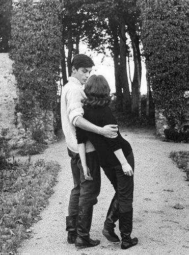 Romy Schneider and Alain Delon The beatnik look still influences casual fashion. (please follow minkshmink on pinterest)