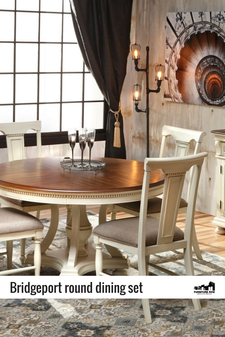 Bridgeport round dining set get classic american country styling bridgeport round dining set get classic american country styling with vintage charm geotapseo Choice Image