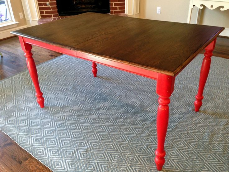 Honey Stained 80 S Oak Kitchen Table Turned Into Farmhouse Table