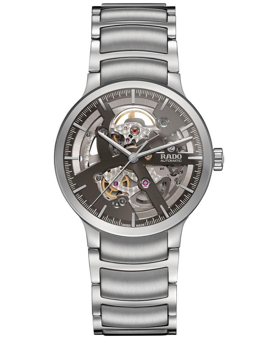 Rado Men's Swiss Centrix Automatic Skeleton Stainless Steel Bracelet Watch 38mm & Reviews - All Fine Jewelry - Jewelry & Watches - Macy's ...