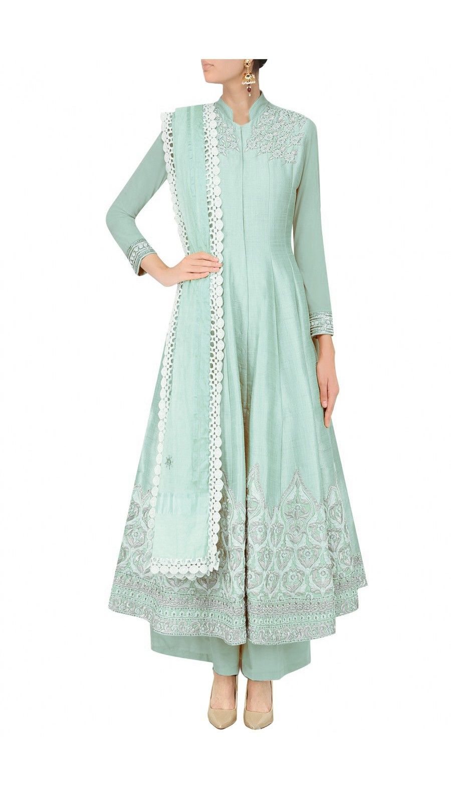 light blue traditional indian dress