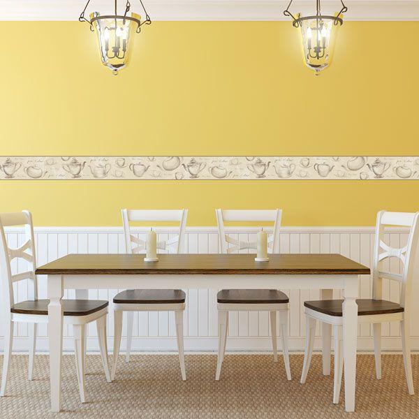 Pin de papel pintado barcelona en cenefas para cocina - Papel para paredes de cocina ...