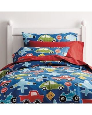 The Company Store Transport Percale Duvet Cover, TWIN - Company Kids from The Company Store | Shop Parents.com
