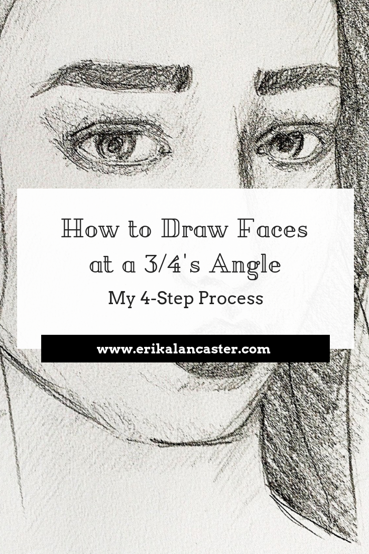 How to draw faces at a 3 4s angle free worksheets included sketching portraits teachingart drawing sketchbook portraits art