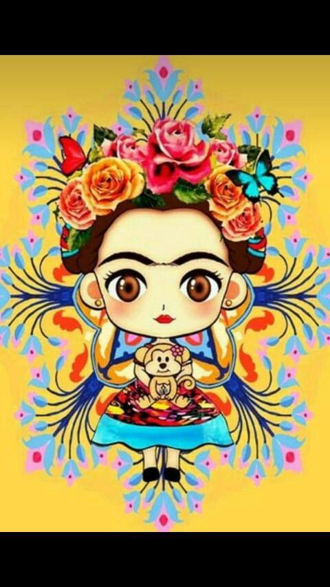 Pin De Anneth Ramirez Uribe En Portrait Frida Kahlo Caricatura Frida Art Frida Kahlo Dibujo
