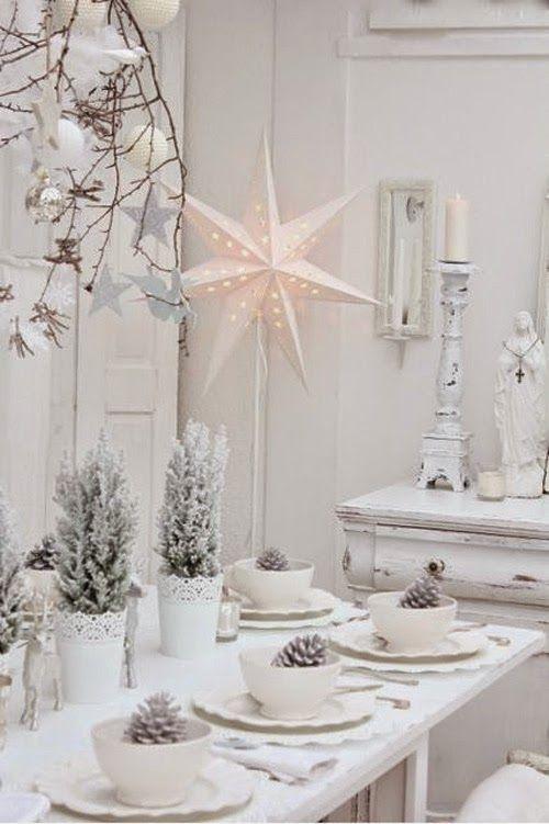Kar Feher 02 Jpg 500 751 Christmas Table Decorations White Christmas Decor Christmas Tablescapes