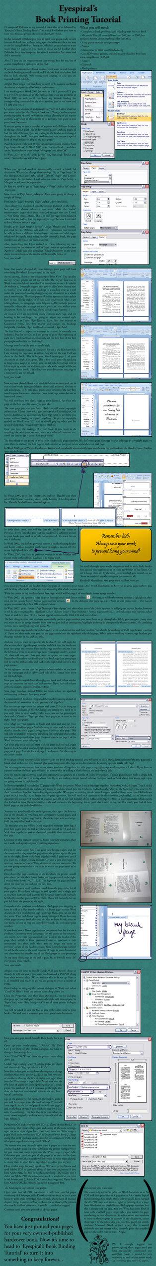 Book Printing Tutorial by ~Eyespiral-stock on deviantART