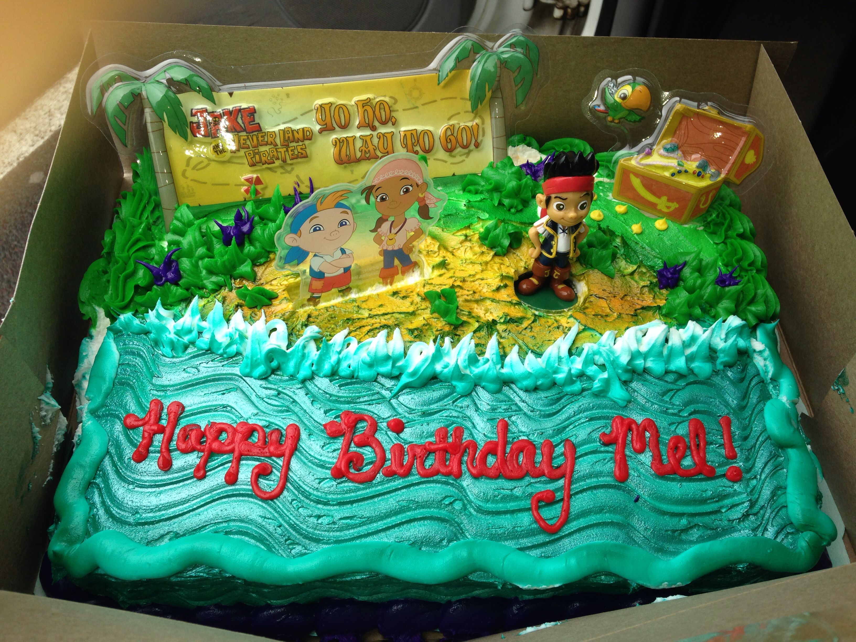 Jake And The Neverland Pirates Walmart Cake For My Sons 3rd Birthday