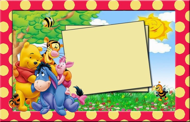 Printable Winnie The Pooh Birthday Cards Disney Scrapbooking