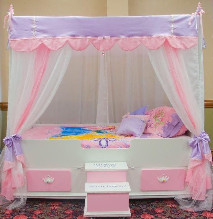 Full Ultimate Princess Canopy Top Girls Princess Canopy Bed Top