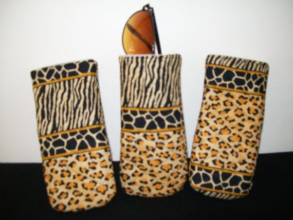 Quilted eyeglass case in jungle animal print by ExpressionQuilts, $4.99