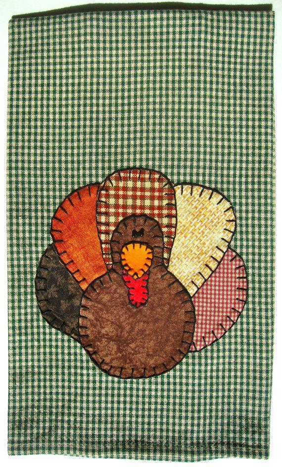 Turkey Applique Tea Towel, Kitchen Towel, Dish Towel, Hand Towel, Home  Decor, Thanksgiving Decorations, Fall Decorations