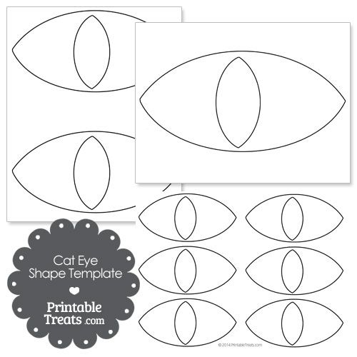 cat eye shape template from printabletreats com halloween