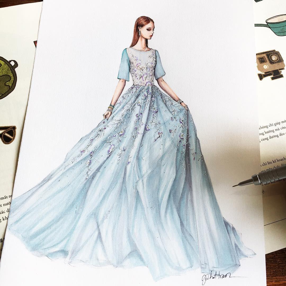 Pin by seda türkyılmaz on moda elbise çizimleri | Pinterest | Dress ...