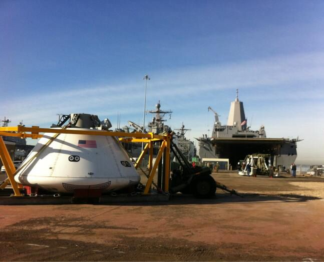 Orion Underway Recovery Testing Begins off the Coast of California #NASA