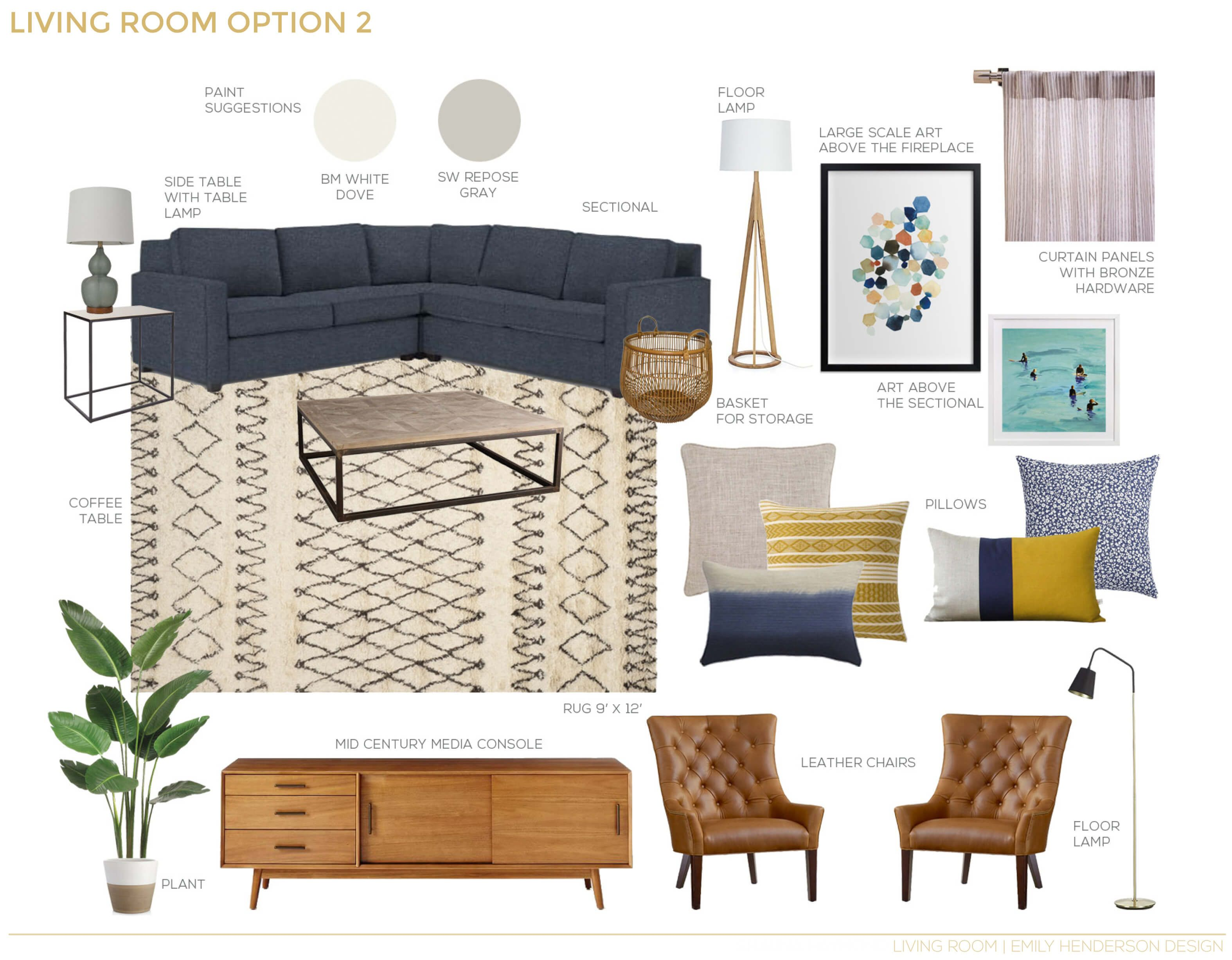 A Textured Traditional Mid Century Living Room | Mid century living ...