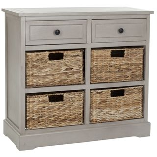 Safavieh Cape Cod 6-Drawer Grey Storage Unit | Overstock.com Shopping - Great  sc 1 st  Pinterest & Safavieh Cape Cod 6-Drawer Grey Storage Unit | Overstock.com ...