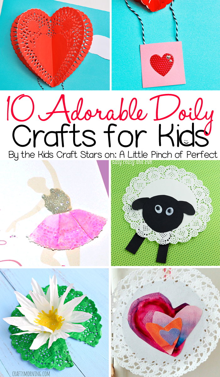 10 adorable doily crafts for kids to make including animals 10 adorable doily crafts for kids to make including animals flowers dolls and jeuxipadfo Images