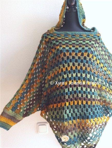 Afbeeldingsresultaat Voor Poncho Haken Patroon Sewing Weaving