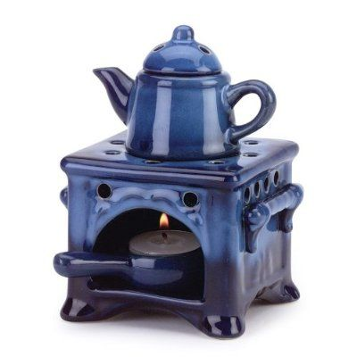 1 X Country Kitchen Ceramic Kettle Stove Oven Oil Warmer