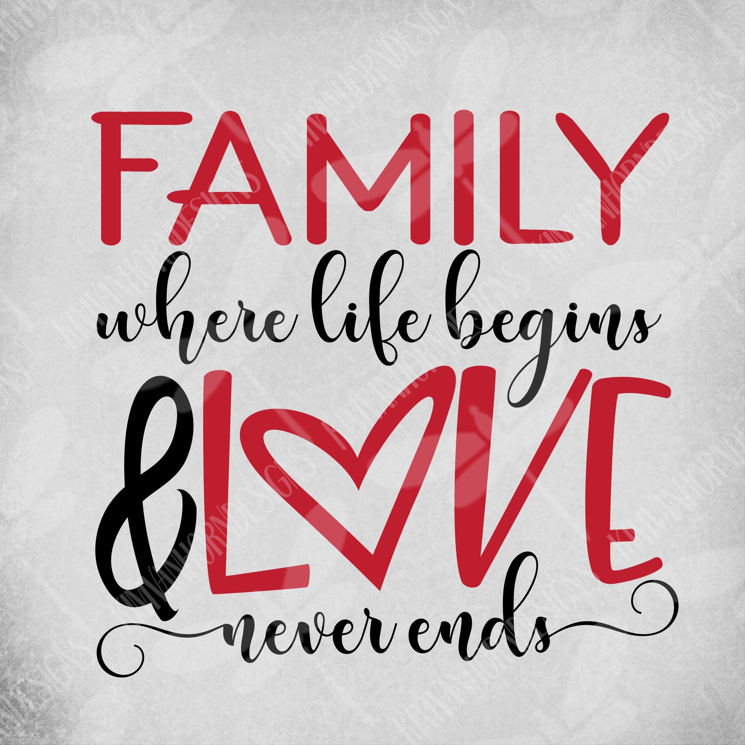 Download Family svg, Family Where Life Begins & Love Never Ends svg ...