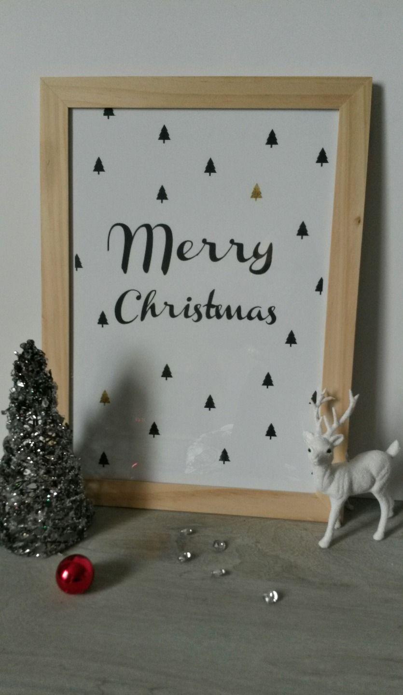 Grand Cadre Tendance Scandinave Merry Christmas Décorations Murales Par Joli Mai Parement Mural Décoration Murale Cadre Salon
