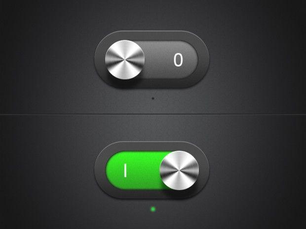 #Dark Switches, #Free, #Green, #Metallic, #PSD, #Resource, #Switch, #Toggle