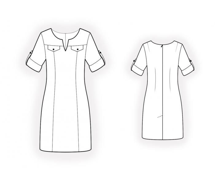 Dress With Yoke - Sewing Pattern #4568. Made-to-measure sewing ...