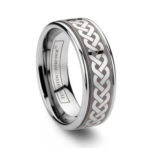 Celtic Tungsten Ring Celtic Wedding Rings Tungsten Wedding Bands Wedding Rings