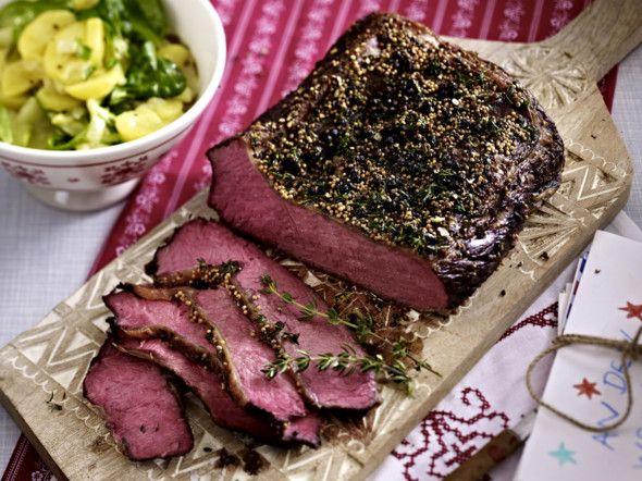 roastbeef rezepte mit feinstem rindfleisch futter pinterest salat rezepte gurken und. Black Bedroom Furniture Sets. Home Design Ideas