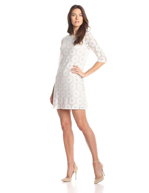 3 4 Sleeve Shift Dress By Jessica Howard Lace Shift Dress Jessica Howard Dress Shift Dress [ 1500 x 1154 Pixel ]
