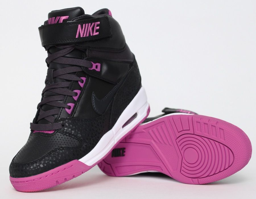 9df67ff7d29f Nike Air Revolution Sky Hi Black Pink