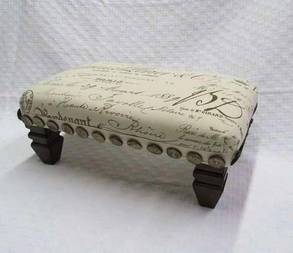 TUFFET footstool French script by yiayias on Etsy
