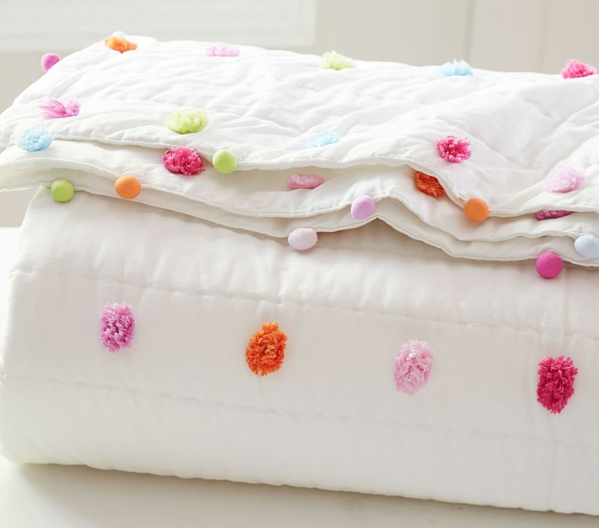 Bright Pom Pom Quilted Bed Linen Pottery Barn Kids Uk In