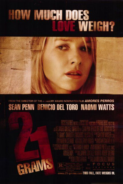 21 Grams Starring Sean Penn Benicio Del Toro Naomi Watts