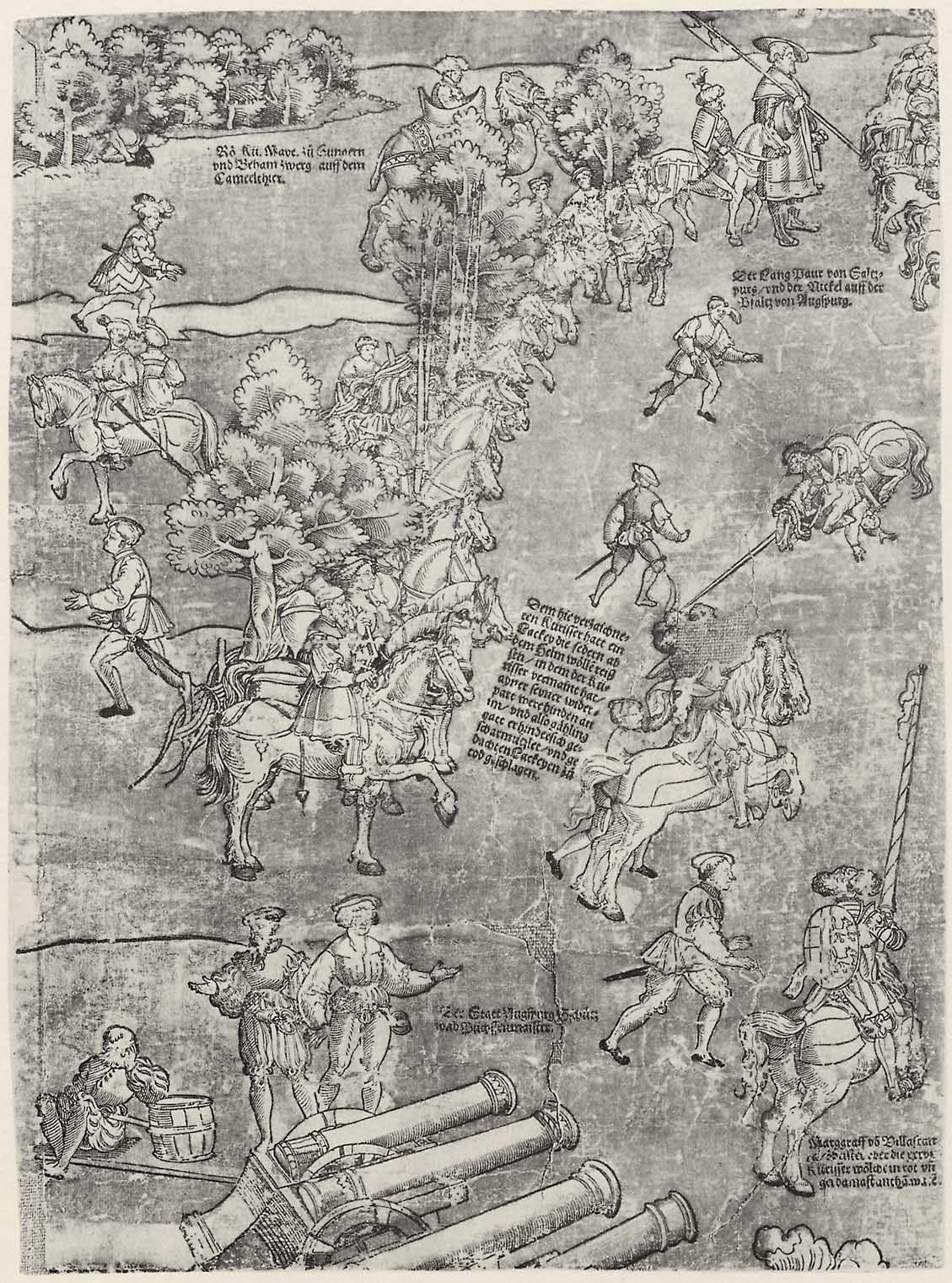 Artist: Breu, Jörg d. Ä., Title: Die Belehnung König Ferdinands mit den österreichischen Erblanden, Detail [8/23], Date: 1530