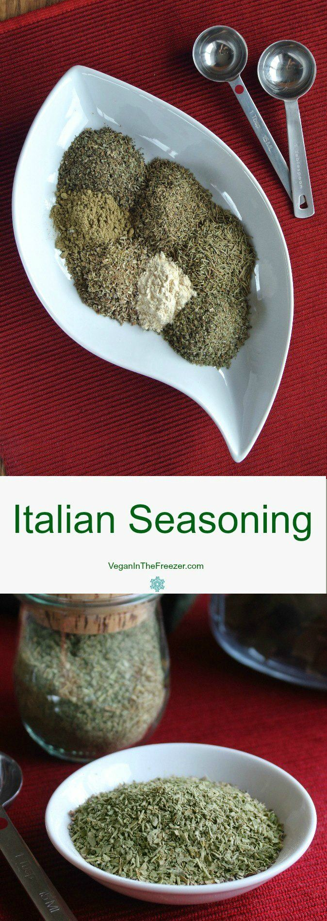 Italian seasoning adds so much to a sauce or casserole.  You probably have all of the ingredients in your cupboard already so check it out.  It only takes a little measuring and you are done.